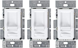 Lutron Electronics 3 Pack Dimmers LECL-153P-WH-3 White Lumea CL Dimmers Switch, Best dimming performance for LED Bulbs