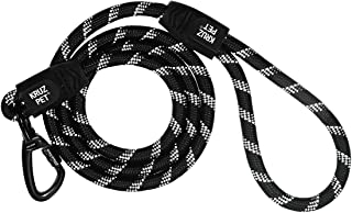 Kruz Reflective Dog Leash - KZROPE5048-01S - Soft Silicone Grip - Click & Lock Snap - Pet Walking, Running, Training - Hea...