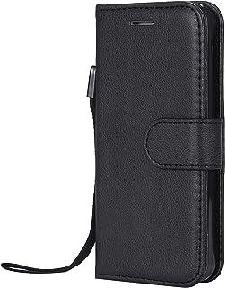 NEXCURIO Galaxy S5 / docomo SC-04F / au SCL23 ケース 手帳型 PU レザーケース 耐衝撃 カード収納 スタンド機能 マグネット式 ギャラクシーS5 ケース 携帯カバー おしゃれ - NEKTU13032 黒
