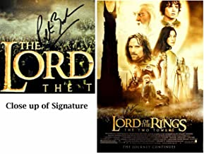 Peter Jackson Signed - Autographed The Lord of the Rings The Two Towers Full Size Original Movie Poster - The Hobbit Director - Guaranteed to pass BAS - Beckett Authentication