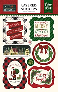 Echo Park Paper Company TWAS The Night Before Christmas Layered Stickers