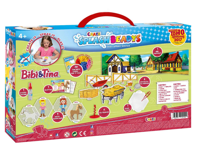 CRAZE- Cuentas de fusibles Splash BEADYS Fun Set Bibi y Tina Water Fuse Beads Toy para niños 12192, Multicolor: Amazon.es: Juguetes y juegos