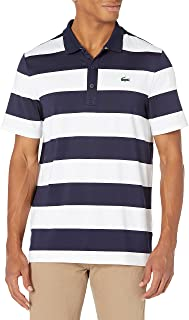 Lacoste Men's Sport Short Sleeve Colorblock Striped Ultra Dry Polo Shirt