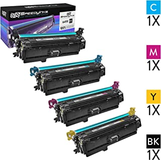 Speedy Inks Remanufactured Toner Cartridge Replacement for HP 649X (1 Black, 1 Cyan, 1 Magenta, 1 Yellow, 4-Pack)