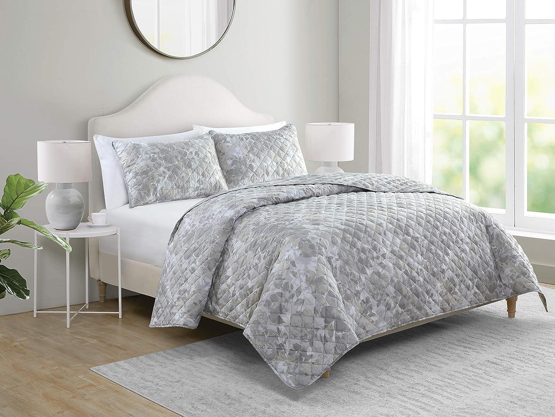 Tahari Home Alisa Quilts, King, Grey