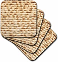 3dRose CST_112943_2 Matzah Bread Texture Photo-for Passover Pesach-Funny Jewish Humor-Humorous Matzo Judaism Food-Soft Coasters, Set of 8