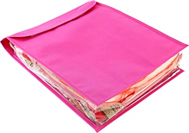 My Gift Booth Nylon Saree Cover, Pink, 43 cm x 31 cm x 15 cm, MGBNEW 487