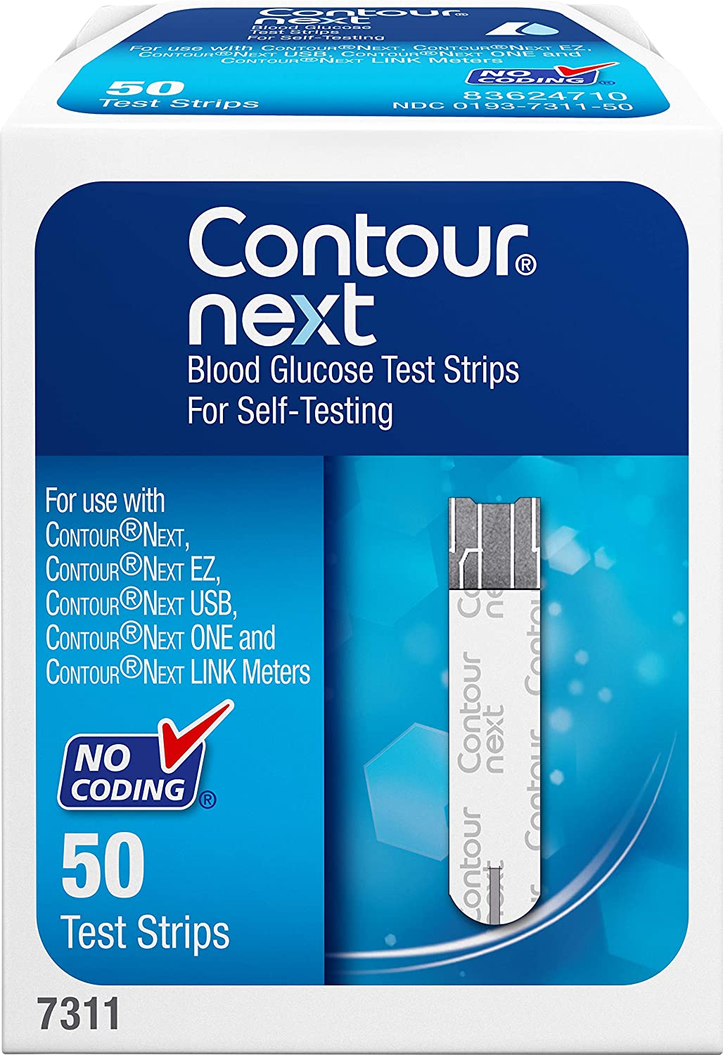 CONTOUR NEXT Blood Glucose Test Strips, 50 Count: Health & Personal Care