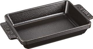 STAUB Mini Dish Rectangular 15cm x 11cm Black