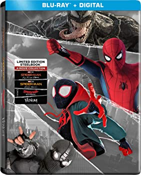 Spider-Man: 4-Film Steelbook Collection Blu-Ray + Digital (4-disc)
