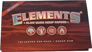 Elements エレメンツSLOW BURN HEMP PAPERS 70mm Single Wide Double Pack レギュラーサイズ ローリングペーパー ヘンプ製 シングルワイド 100枚 [並行輸入品]