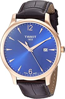 Tissot Mens Tradition Stainless Steel Dress Watch Rose Gold T0636103604700