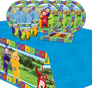 Teletubbies Children's Birthday Tableware Party Pack Kit For 16