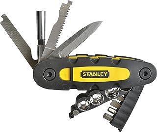 Stanley 14-i-1 multifunktionsverktyg (innehåller hylsnyckel, bits, knivblad, fil, såg och flasköppnare, kompakt vikbar des...