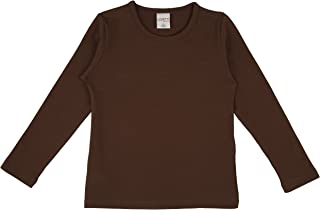 Girls' Basic Long Sleeve Round Neck T-Shirt