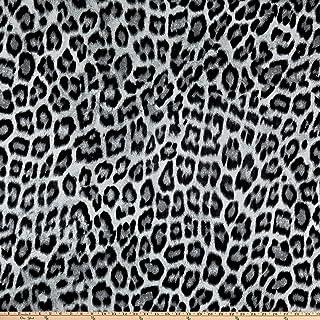 19eb17818f1 Fabric Mart Animal Print Jersey Knit Fabric, Black/Gray/White, Fabric By