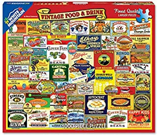 White Mountain Puzzles Vintage Foods & Drinks- 1000 Piece Jigsaw Puzzle