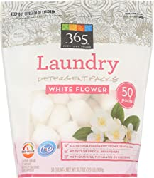 365 Everyday Value, Laundry Detergent Packs, White Flower, 50 ct (Packaging May Vary)