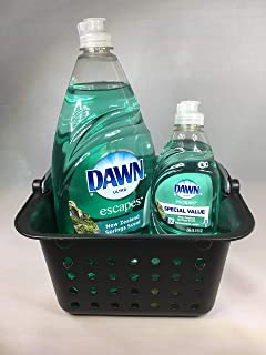 Dawn Ultra Escapes Dishwashing Liquid, New Zealand Springs 41 oz, and 8 oz, 49 Total Ounces, in Sturdy Reusable Basket