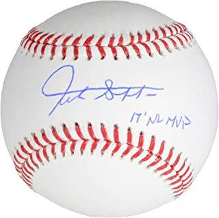 Giancarlo Stanton Miami Marlins Autographed Baseball with 2017 NL MVP Inscription - Fanatics Authentic Certified