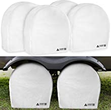Leader Accessories Tire Covers (4 Pack) Heavy Duty Waterproof Tire Cover Wheel Covers for RV Wheel Travel Trailer Camper Car Truck Jeep SUV Fits 32
