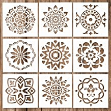 9 Pack Mandala Stencils Malplaatjereeks Mandala Dotting Schilderen Stencils Tool for Airbrush, meubels vloertegels, W zcaq...