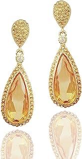Moonstruck Costume Jewelry Chandelier Rose Gold Drop and Dangle Earrings for Women