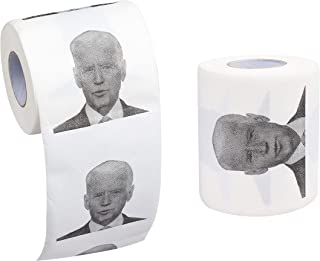 SummitLink Joe Biden Toilet Paper Tissue Napkin Prank Fun Birthday Party Novelty Gift Idea (B-2Rolls)