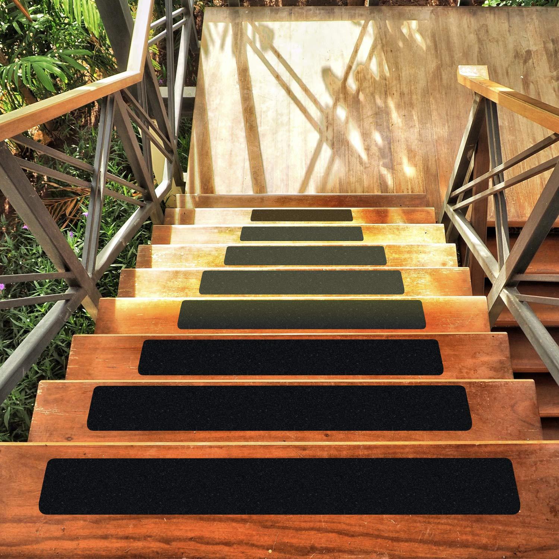 Any Beauty - Cinta de tracción antideslizante para escaleras de exterior (15,2 x 76,2 cm), color negro opaco (10 unidades): Amazon.es: Bricolaje y herramientas