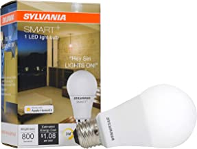 SYLVANIA General Lighting 74579 Smart+ A19 LED Bulb, Works with Apple HomeKit and Siri Voice Control, No Hub Required, 1 P...