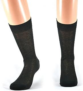 Fontana Calze, 12 paia di calze UOMO corte in 100% Cotone Filo di Scozia.