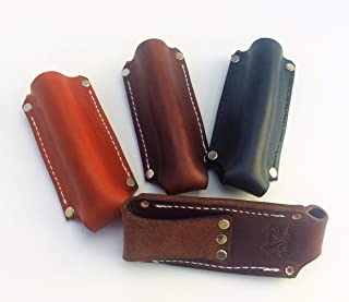 AP Saddlery Leather Flashlight Holster for Terralux, Maglite Mini, Streamlight and Many Other AA Battery Flashlights