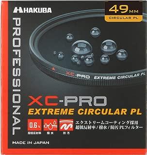 HAKUBA PLフィルター 49mm サーキュラーPL 反射率 0.6% 色ムラなし コントラスト強調 反射除去 撥水防汚 薄枠 日本製 XC-PRO CF-XCPRCPL49