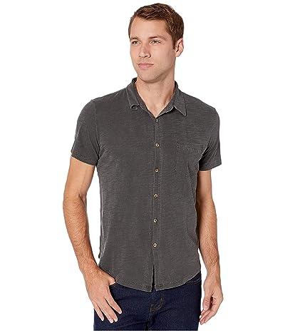 Mod-o-doc Montana Short Sleeve Button Front Shirt (Charcoal) Men