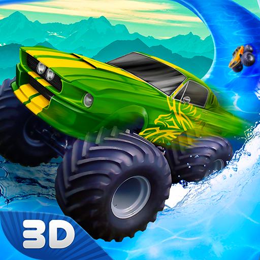 Craze Monster Truck Offroad Madness: Frozen Tube Water Slide Stunt Driving Simulator