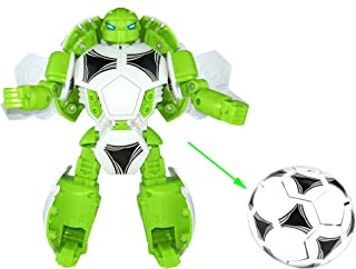 HAPTIME 8.6 inch Soccer Man Action Figure Big Creative Transformer Toy Educational Fun Warrior Helping Develop Hand-Eye Coordination Great as Christmas Birthday Gift for Kids Children Boys