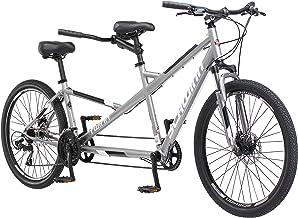 Schwinn Twinn Adult Tandem Bicycle, Low Step-Through, 26-Inch Wheels, Medium Frame, Grey