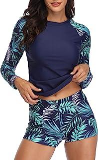 Women Rash Guard Long Sleeve Swimsuits UV UPF 50+ Swim...