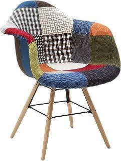 55 x 55 x 43 cm Fashion Commerce Pouf-Tavolino,Tessuto Denim Slavato