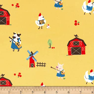 Michael Miller Minky Stay Tuned Fabric, Sun, Fabric By The Yard