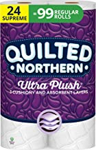 Quilted Northern Ultra Plush Toilet Paper, 24 Supreme Rolls, 24 = 99 Regular Rolls, 3 Ply Bath Tissue, 3 Packs of 8 Rolls