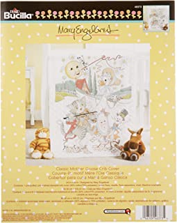 Bucilla Stamped Cross Stitch Crib Cover Kit, 34 by 43-Inch, 46373 Mary Engelbreit Classic Mother Goose