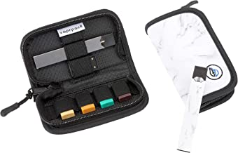 Brappo Carrying Case Compatible for JUUL Pu Leather Storage Bag with Pods Holder Device Not Included Silver