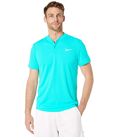 Nike NikeCourt Dry Polo Blade (Light Aqua/White) Men