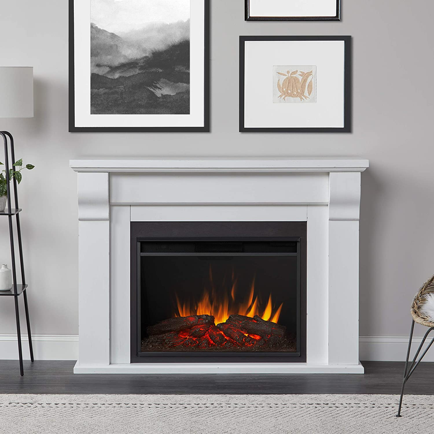 Ranking TOP17 Real Flame Indianapolis Mall Whittier Grand White Electric Fireplace