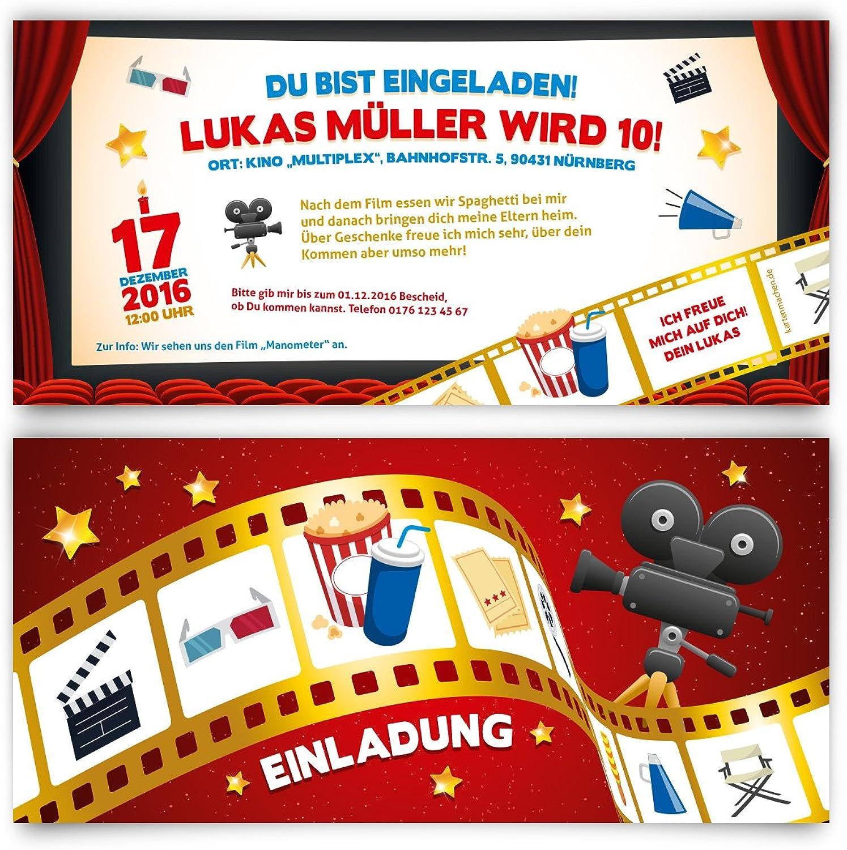 Einladungskarten Kindergeburtstag (40 Stück) Kino Film Ticket Motiv Einladung B01JISQ2WO  | Verschiedene Stile und Stile