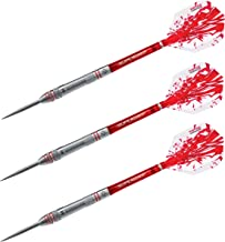 Harrows Rapide 90% Tungsten Matched Weighed + or-0.5G Machined with Cut Rings & Knurls Steel Tip 24G Dart