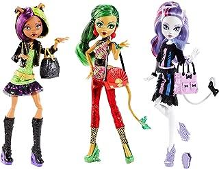 Monster High New Scaremester Fashion Doll Set (Clawdeen Wolf, Jinafire Long & Catrine DeMew)