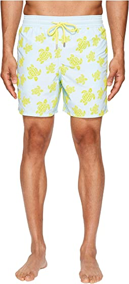 Moorea Flocked Turtle Swim Trunk