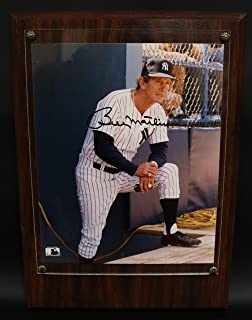 Billy Martin Signed Autographed Glossy 8x10 Photo In Heavy Wood Plaque - COA Matching Holograms